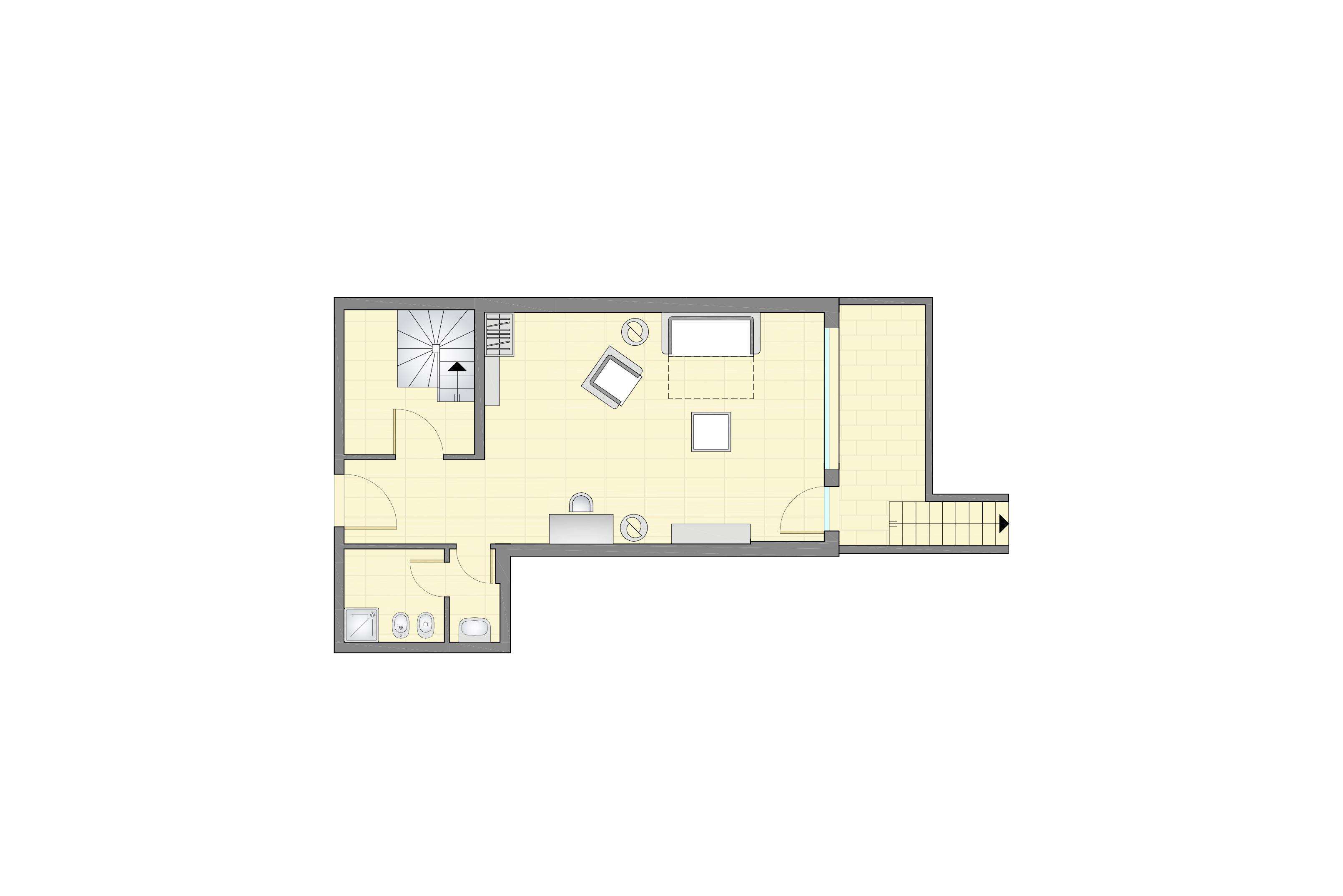 Planimetria appartamenti de luxe con giardino piano 2 for Planimetria giardino